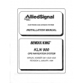 Bendix King KLN 900 GPS Navigation Sysytem Installation Manual 006-15533-0000 $29.95