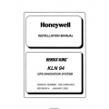 Bendix King KLN 94 GPS Navigation Sysytem Installation Manual 006-10599-0004 $29.95