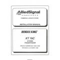 Bendix King KT 76C ATCRBS Transponder Installation Manual 006-10545-0000 $29.95