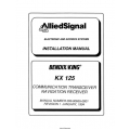 Bendix King KX 125 Communication Transceivers Installation Manual 006-00655-0001 $29.95