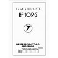 BF 109 G Ersatzteil-liste  Messerschmitt A.G. Augsburg