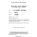 Blanik L-23 Super - Blanik Sailplane Flight Manual/POH 1993 $4.95