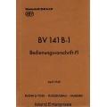 Blohm & Voss BV 141 B-1 Bedienungsvorschrift-FI $4.95