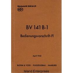 Blohm & Voss BV 141 B-1 Bedienungsvorschrift-FI