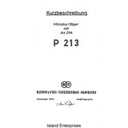 Blohm & Voss P-213 Miniatur-Jager mit AS 014 Kurzbeschreibung
