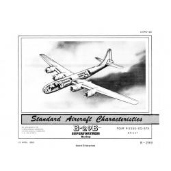 Boeing B-29B Superfortress Standard Aircraft Characteristics 1950