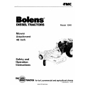 Bolens 1348 Diesel Tractors Mower Attachment 48 inch Safety & Operation Instructions 1978