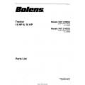 Bolens 1467 (1402G) Tractor 14HP & 16HP Parts List 1989