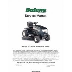 Bolens 683 Series Box Frame Lawn Tractor Service Manual