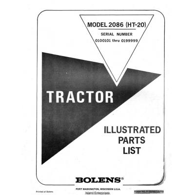 Bolens 2086 (HT-20) Tractor Form P-552667 Parts List $4 95