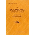Boomerang Interceptor Aircraft Operating Instructions Manual $5.95