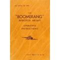 Boomerang Interceptor Aircraft Operating Instructions Manual