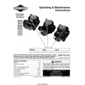 Briggs & Stratton 28N700, 28U700, 310700, 313700 Operating & Maintenance Instructions 2000 $4.95