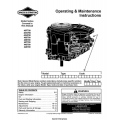 Briggs & Stratton Models 40F700 thru 446700 Operating and Maintenance Instructions Manual 2000 $4.95