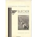 Buecker Jungmann Description Technique Flugzeugbau $4.95