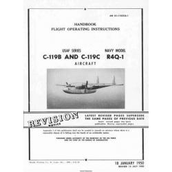 Fairchild C-119 & C-119C Flying Boxcar USAF Series  & Navy R4Q-1 Aircraft Flight Operating Instructions 1950