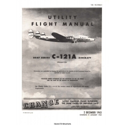 Lockheed C-121A Constellation USAF Series Aircraft Utility Flight Manual/POH 1963 - 1965 $9.95