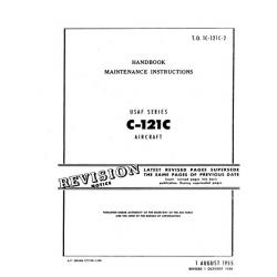 Lockheed C-121C Constellation USAF Series Aircraft T.O.1C-121C-2 Handbook Maintenance Instructions $13.95
