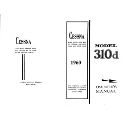 Cessna 310D Owners Manual 1960 P199-13 $19.95