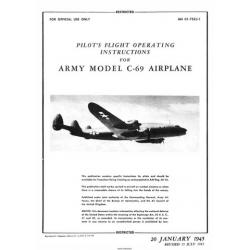 Lockheed C-69 Constellation Army Model Airplane Pilot's Flight Operating Instructions $5.95