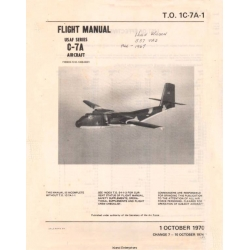 de Havilland Canada C-7A Caribou USAF Series Flight Manual/POH  $19.95