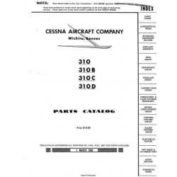 Cessna 310, 310B, 310C, 310D, Parts Catalog