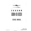 Cessna 310, 310B, 310C and 310D Service Manual $29.95