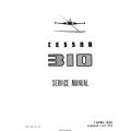 Cessna 310 Service Manual $29.95