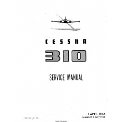 Cessna 310, 310B, 310C and 310D Service Manual $29.95