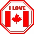 I Love Canada! Decal/Stickers!