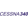 Cessna 340 Script Aircraft Decal,Stickers!
