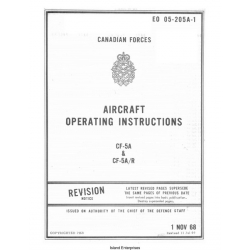 CF-5A & CF-5A/R Aircraft EO 05-205A-1 Operating Instructions 1968 - 1969 $9.95