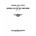 Continental R670 & W670 Series Engines Overhaul Tool Catalog 1941 $13.95