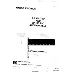 Narco Avionics CP 135 TSO and CP 136 TSO Audio Panels Installation Manual 03740-0600
