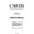 Carver PM-1.5 Low Feedback/ High Headroom Magnetic Field Power Amplifier Owner's Manual $4.95