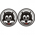 Cat Aircraft Decal,Sticker 6''round diameter!