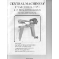 "Central Machinery 4-1/2"" Metal Cutting Bandsaw Instruction Manual $4.95"