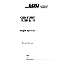 Century II, IIB & III Flight Systems 68S54 Service Manual 68S54