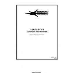 Century IIB 68S75 Autopilot Flight System Pilot's Operating Handbook 1981 $9.95
