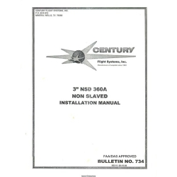 "Century 3"" NSD 360A Non Slaved Installation Manual $29.95"