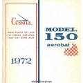 Cessna 150 Aerobat Pilot's Operating Handbook 1972 $6.95