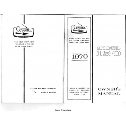 Cessna 150 Owners Manual 1970