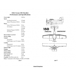 Cessna 150 Patroller Performance and Specifications 1964 $4.95