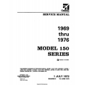 Cessna 150 Series 1969 thru 1976 Service and Maintenance Manual $19.95
