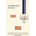 Cessna 152 Information Manual 1979 - 1980 D1170-13 $9.95