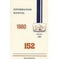 Cessna 152 Pilot's Operating Handbook 1980 $9.95
