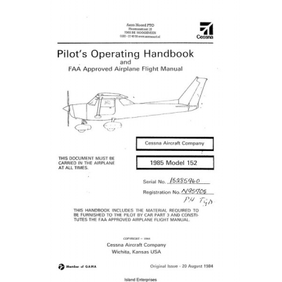 Cessna 152 Pilot's Operating Handbook and FAA Approved Airplane