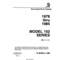 Cessna 152 Series 1978 thru 1985 Parts Catalog 1996 $19.95