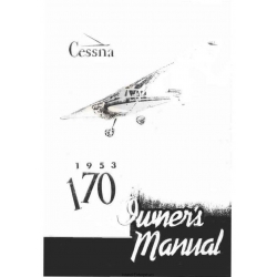 Cessna 170 Owner's Manual 1953