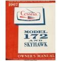 Cessna 172, C172H and Skyhawk Pilot's Operating Handbook 1967 $6.95